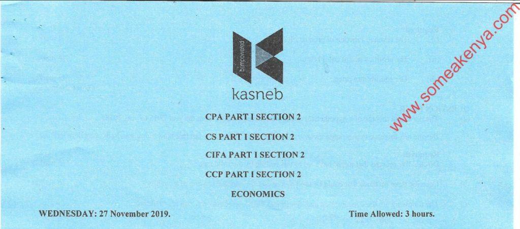 Economics November 2019 Past Paper