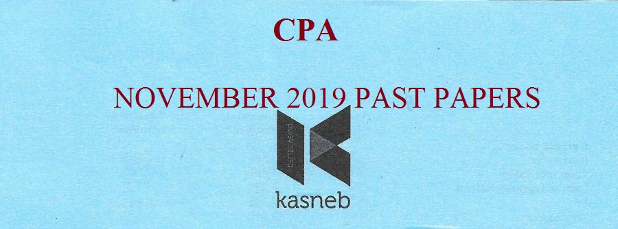 CPA November 2019 Past Papers
