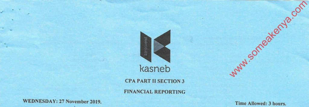 Financial Reporting November 2019 Past Papers