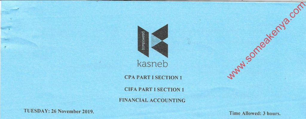 Financial accounting 2019