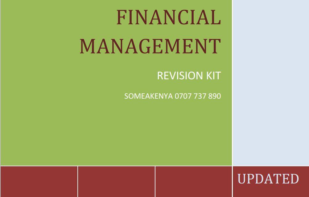 Financial-Management-revision-kit
