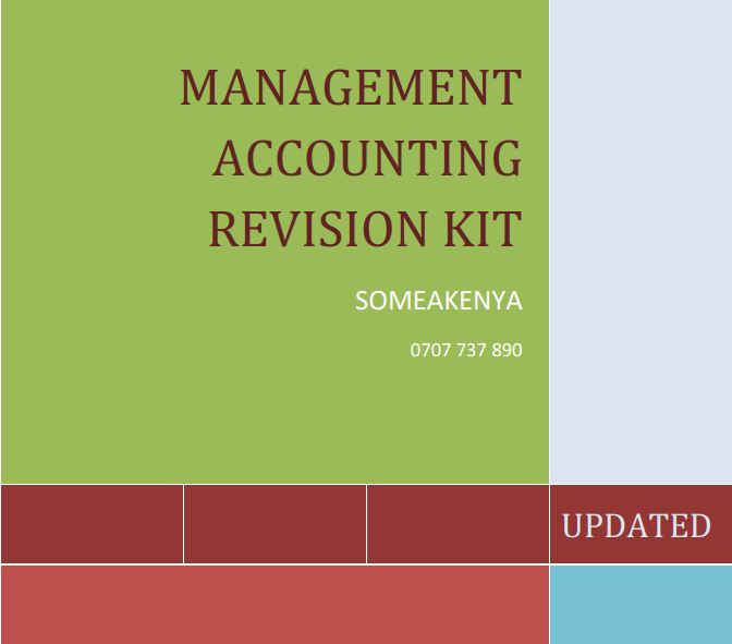 CPA Management Accounting Revision kit