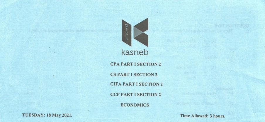 Economics May 2021 Past Paper