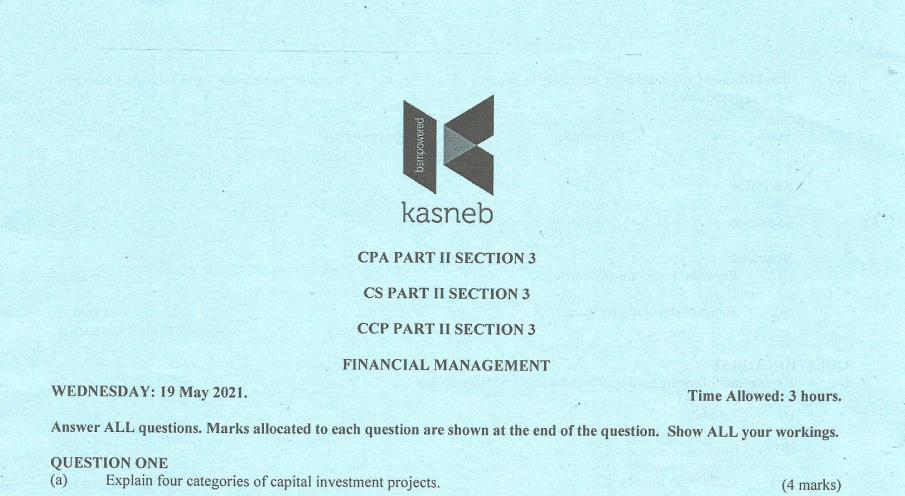 Financial Management may 2021