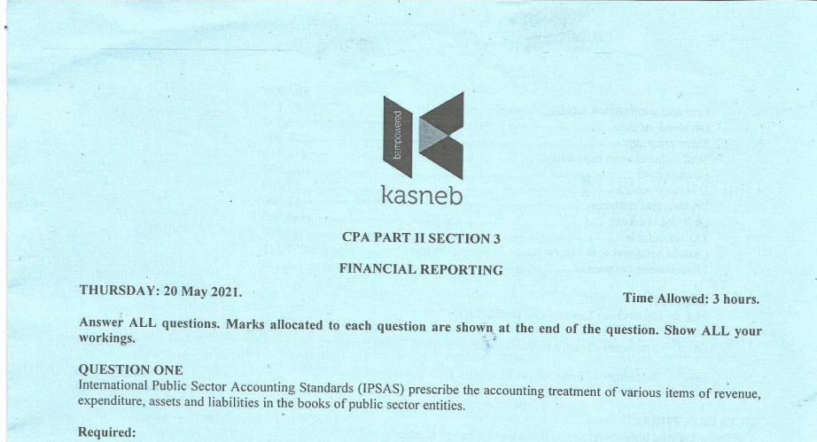 Financial Reporting May 2021
