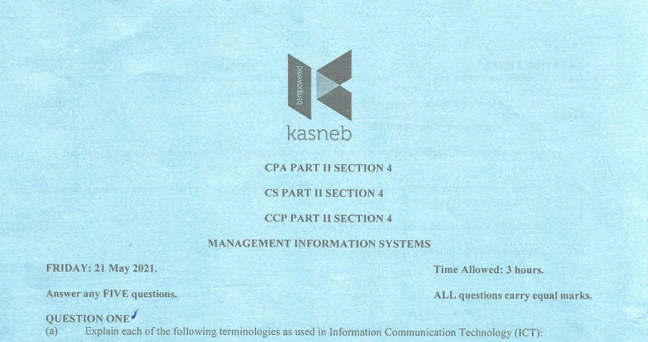 Management Information systems may 2021