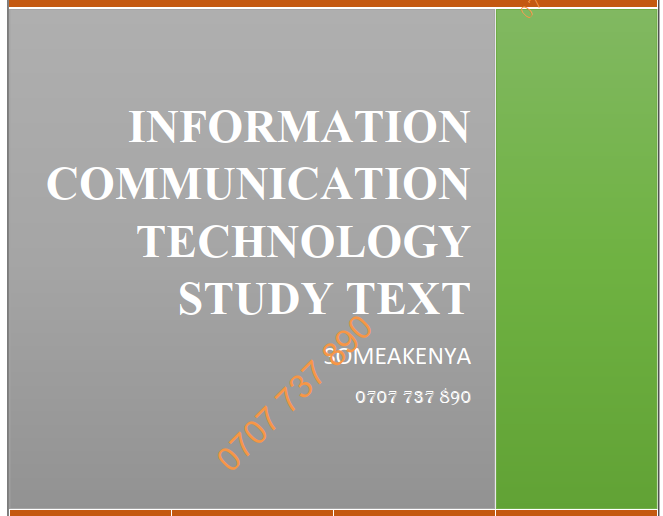 Information Communication Technology (ICT) new revised CPA CS KASNEB notes