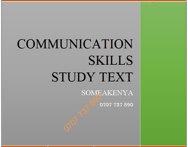 Communication skills new revised notes CPA KASNEB