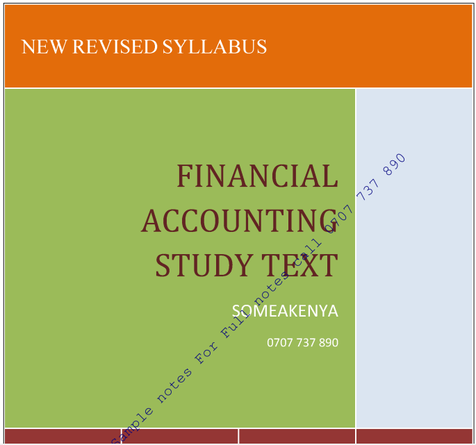 Financial Accounting new Revised notes