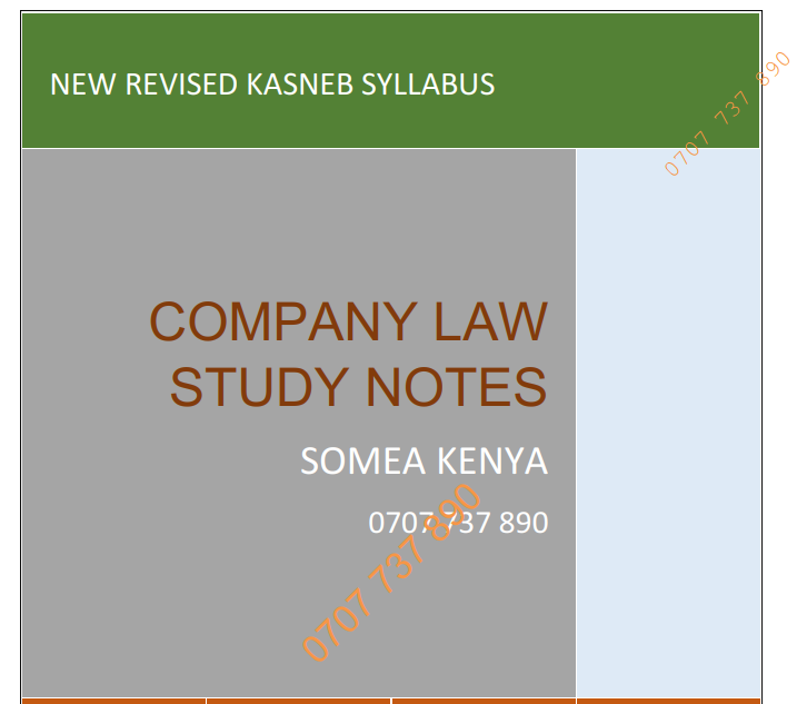 Company Law new Revised notes