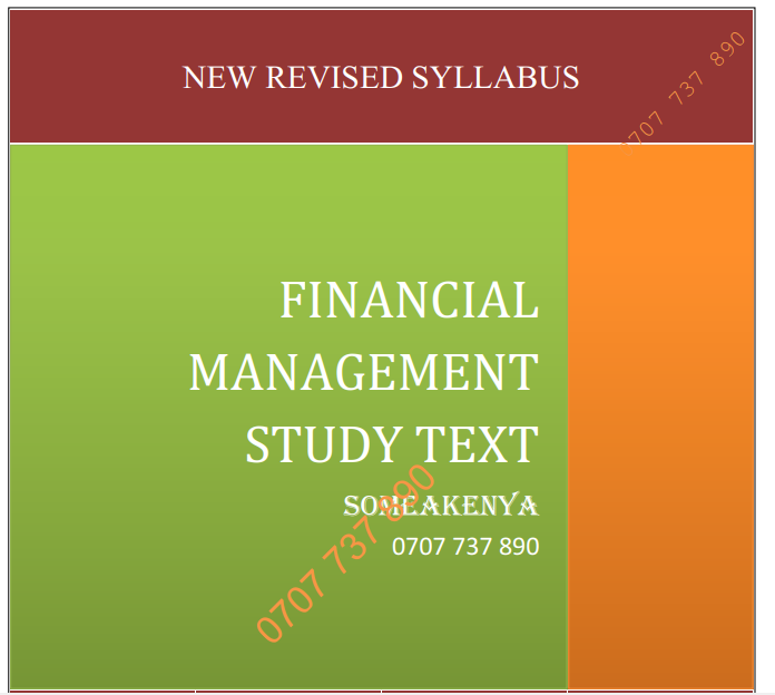 Financial Management revised cpa notes